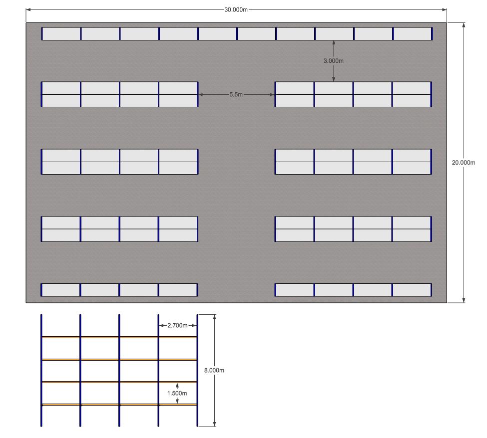 Large Warehouse Pallet Racking