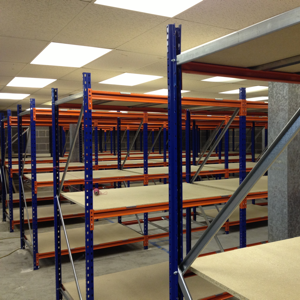 New longspan industrial shelving