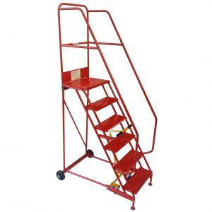 Knock down mobile warehouse safety steps