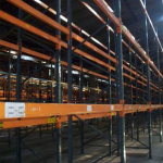 6 bays of used Dexion Speedlock warehouse racking