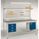 Square Tube Warehouse Workbench With Accessories