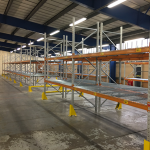 32 bays of second hand pallet racking (5000mm high x 1100mm deep x 2250mm wide)