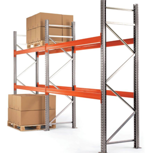 2 bays of used pallet racking (3000mm high x 1100mm deep x 2700mm wide)