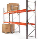2 bays of used warehouse racking (4000mm high x 1100mm deep x 2700mm wide)