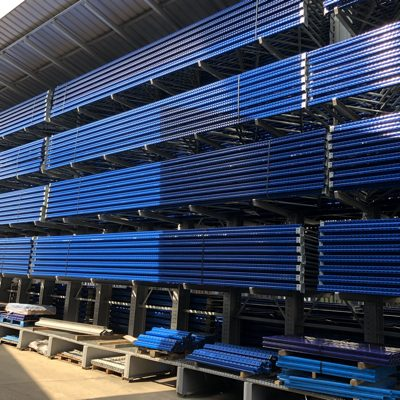 What is a warehouse racking bay?