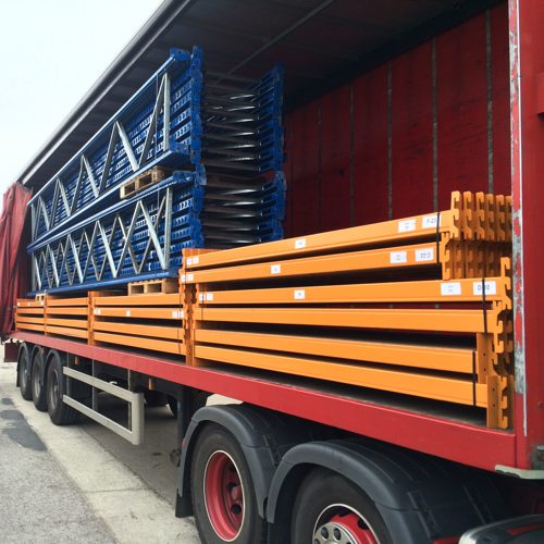 Pallet racking deliveries for the whole of the UK